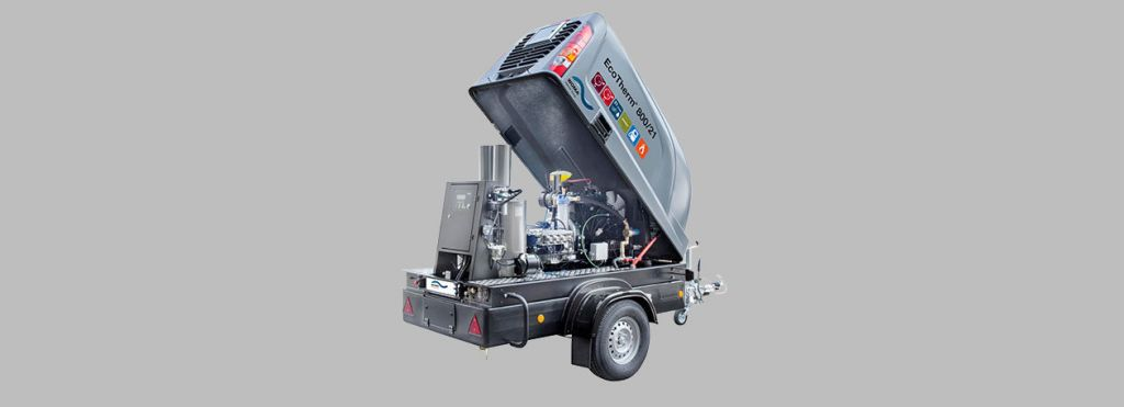 hot water unit waterjetting system